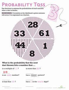 math worksheet : probability toss 2  statistics math worksheets and fractions : Statistics Math Worksheets