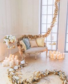 gold and white seating lounge