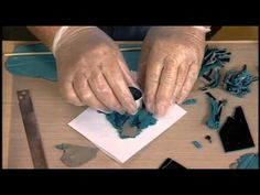 Syndee Holt lesson on how to make faux turquoise beads. She shows how to make them by using clay and alcohol inks.