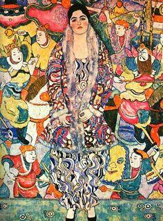 Friederike Maria Beer - 1916 - huile sur toile - 168 x 130 cm On peut y découvrir toute l'influence exercée par les artistes japonais sur l'art nouveau.
