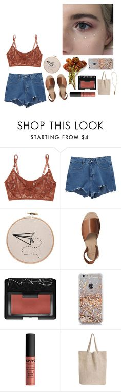 """fly away"" by rejectedminds ❤ liked on Polyvore featuring Lonely, Pieces, NARS Cosmetics, NYX, Monserat De Lucca and The Giving Keys"