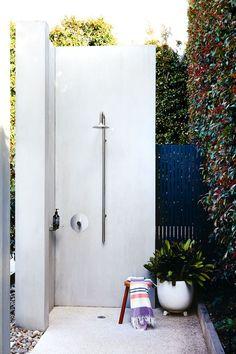 Romy Sormann's Outdoor Shower from Inside Out Magazine
