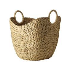 "Large Curved Basket - 20""l x 15""w x 20""h - $54 - This will sit in the living room and can serve as a place for throw blankets or Jack's toys!"