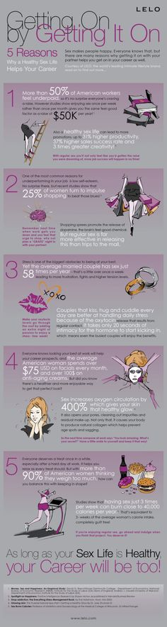 #INFOGRAPHIC: WHY A HEALTHY SEX LIFE HELPS YOUR CAREER www.jackiegoodfriend.pureromance.com