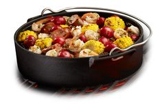 Low Country Boil with the Cast Iron Kettle Insert from STOK Grills  #getstoked