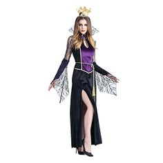6a2ea042b5ec9 Muranba Womens Party Dress Halloween Cosplay Sexy Vampire Witch Dress  (Black