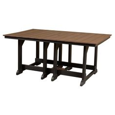 Outdoor Little Cottage Heritage Recycled Plastic 72 in. Rectangular Patio Dining Table