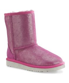 Take a look at this Fuchsia Classic Glitter Boot by UGG® Australia on #zulily today!