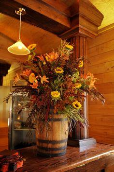 fall barrel arrangement  Love it!!