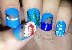 shark #nail #nails #nailart