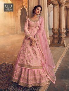 Rs4,900.00 Lehenga Choli, Anarkali, Lehenga Suit, Lehenga Style, Pink Lehenga, Net Lehenga, Party Wear Lehenga, Lehenga Wedding, Sharara Suit