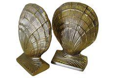 Brass Clamshell   Bookends on OneKingsLane.com  $155 vintage