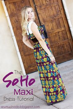 """maxi dresses are a """"must have"""" for arizona summers.  love this! #maxidress #diy #tutorial"""