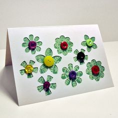 Button Flower Card £3.00