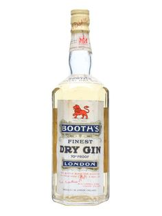 Booths Finest Dry Gin / Bot.1950s : Buy Online - The Whisky Exchange - A bottle of Booths Dry Gin produced back in the 1950s, distilled by the sadly closed Booths of London.