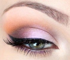 This dreamy Sunset Eye look is a must try. Start with a base of Antique from our Pressed Shadow collection. Apply Princess to the lid and Spellbound to the crease from our PowderColors line. Accent the crease with either PowderColors in Sunset Strip, or our Cameo pressed shadow. Highlight under the brow with Antique. Line with Passion JobaColors Eye Liner and finish with Truly Natural Mascara in Espresso. www.honeybeegardens.com
