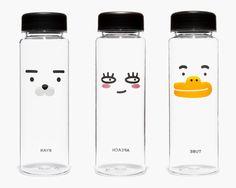 KAKAO FRIENDS RYAN / TUBE / APEACH Character Face Tritan Clear Bottle 16.9 oz #KAKAOFRIENDS #RYAN #TUBE #APEACH #Character #Face #Tritan #Bottle