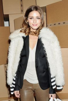 The Olivia Palermo Lookbook : London Fashion Week Fall 2012 : Olivia Palermo at Anya Hindmarch II