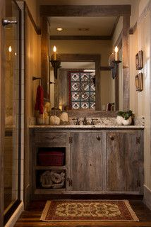 Rustic Lodge style home - rustic - bathroom - houston - by Collaborative Design Group-Architects & Interiors
