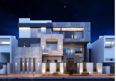 Modern villa in kuwait . Using max , vray and photoshop . Modern Bungalow Exterior, Classic House Exterior, Modern House Facades, Dream House Exterior, Modern Architecture House, Modern House Plans, Islamic Architecture, Design Villa Moderne, Modern Villa Design
