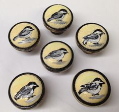 Hand Painted Wildlife Vintage Cabinet Knobs by TheBackyardBear, $5.00