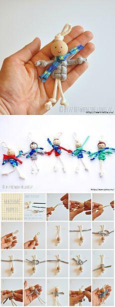Dolls des Seils in der Kunst des Makramee