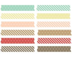 Christmas Washi Tape Digital Instant Download CU by Pininkie, $2.00