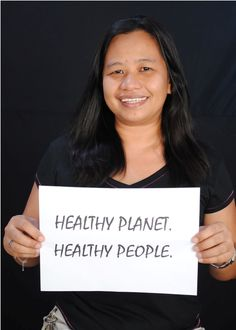 Ayeth Enrile of HCWH-Asia for Earth Day 2013.  #Faceofclimate