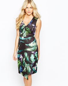 Image 1 of Oasis Tropical Printed Dress