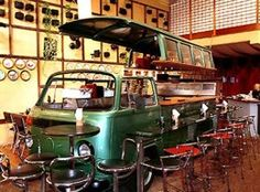 23 Awesome DIYs Made From Old Upcycled Car Parts - Cozinha Japonesa - Nakombi How fun is this one. Car Furniture, Automotive Furniture, Furniture Plans, Automotive Group, Bares Y Pubs, Foodtrucks Ideas, Bar Deco, Car Bar, Home Bar Accessories