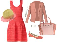 Pink jacquard dress by frangipane