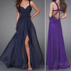 Womens Maxi Formal Prom Bridesmaid Bridal Evening Party Dress Wedding Ball Gown | eBay