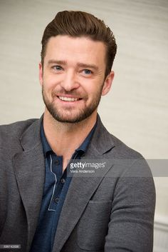 Justin Timberlake at the 'Trolls' Press Conference at the Four Seasons Hotel on…