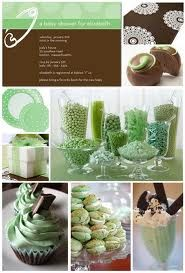 Green and Brown baby shower idea to go with the baby shower cookies I just pinned.