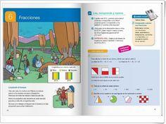 """Unidad 6 de Matemáticas de 4º de Primaria: """"Fracciones"""" Math Worksheets, Editorial, Internet, Map, Education, Interactive Activities, Fractions, Unity, United States"""