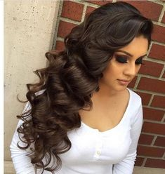 30 most amazing wedding hairstyles for lovely BRIDE Elegant Wedding Hair, Wedding Hair And Makeup, Bridal Hair, Hair Makeup, Quince Hairstyles, Party Hairstyles, Bride Hairstyles, Hairstyle Ideas, Homecoming Hairstyles