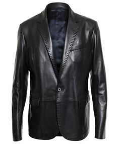 00bd555855c9 LANVIN - Tailored Leather JacketU BETTER B A ROCK STAR Mens Leather Bomber  Jacket