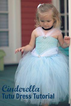 Create this simple, classic Cinderella dress. A wonderful Halloween costume idea!
