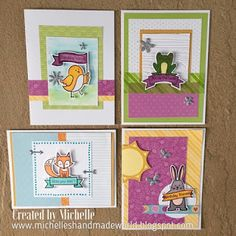 ShinHan Touch coloring techniques featuring CTMH Penelope Paper, Spring Critters Stamp Set and coordinating Thin Cuts. Perfect