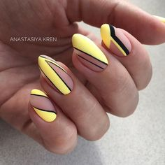 Amazing Summer Matte Nails Art Ideas - Nail Art Connect Summer means color and a fun holiday! Any nail idea can be used in the summer. Neon Nail Art, Matte Nail Art, Geometric Nail Art, Nail Art Diy, Diy Nails, Easy Nail Art, Acrylic Nails, Gel Nail, Gel Manicure