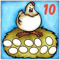 zahlen - Aleiga V. Easter Activities, Activities For Kids, Crafts For Kids, Farm Animal Crafts, Farm Animals, Numbers For Kids, Easter Printables, Farm Theme, Preschool Learning