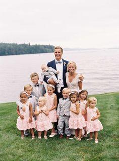 Matching Little Ones | Photo: Tec Petaja. View More:  http://www.insideweddings.com/weddings/childhood-friends-celebrate-wedding-at-marriott-familys-lake-house/866/