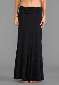 Bobi Maxi Skirt in Black $66.00