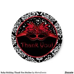Ruby Holiday, Thank You Sticker