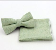 New Superb Green Tweed Style bow tie & Matching Pocket Square.Great Reviews UK | eBay
