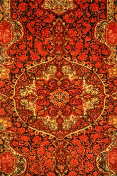 Red, black, and gold #orientalrug