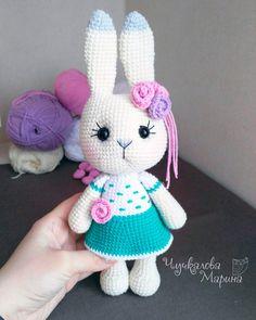 Crochet Animal Patterns, Stuffed Animal Patterns, Crochet Patterns Amigurumi, Amigurumi Doll, Crochet Dolls, Crochet Rabbit, Easter Crochet, Crochet Hook Sizes, Handmade Toys