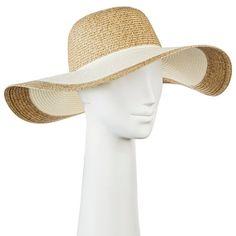 Women's Floppy Straw Hat Tan - Merona