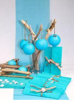 Bois flotté turquoise Turquoise