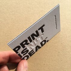 nice #letterpress #businesscards for @peopleofprint  www.peopleofprint.com // Triplex paper stock with a blind emboss, designed by www.jennieclarkdesign.co.uk They will be featured in #element003 have a look at www.element003.com